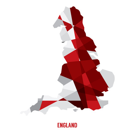 england map: Map of England Vector Illustration  Illustration