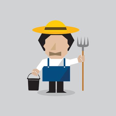 granger: Farmer Man Vector Illustration