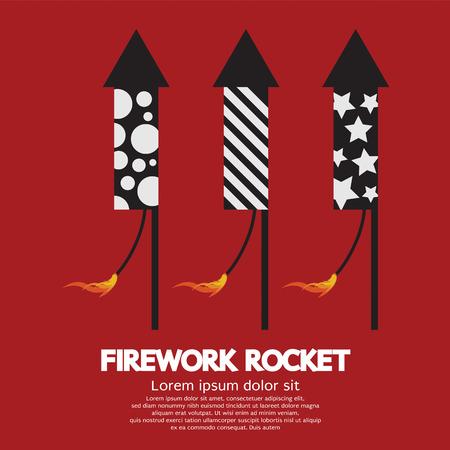 fire works: Firework Rocket Vector Illustration
