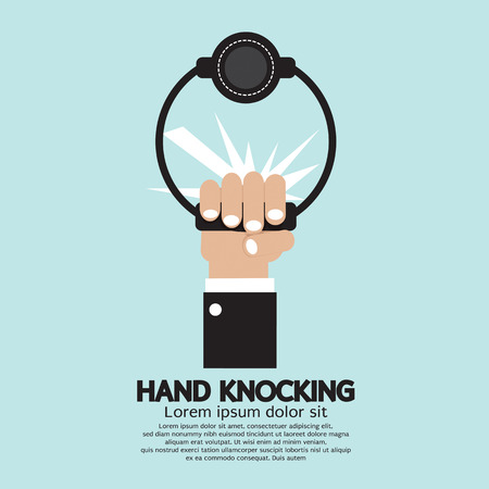 welcome home: Hand knocking Vector Illustration