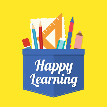 Happy Learning Vector Illustration Vector