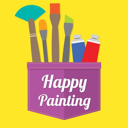 Happy Painting Vector Illustration Vector
