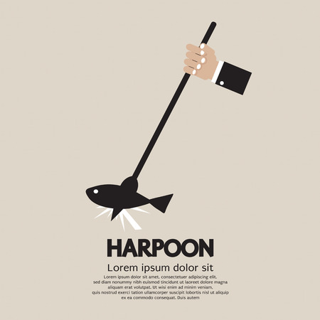 Harpoon Vector Illustration Vector