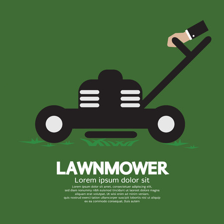 mowing the grass: Lawnmower Vector Illustration