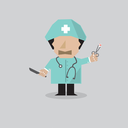 medicate: Surgeon Man Vector Illustration Illustration