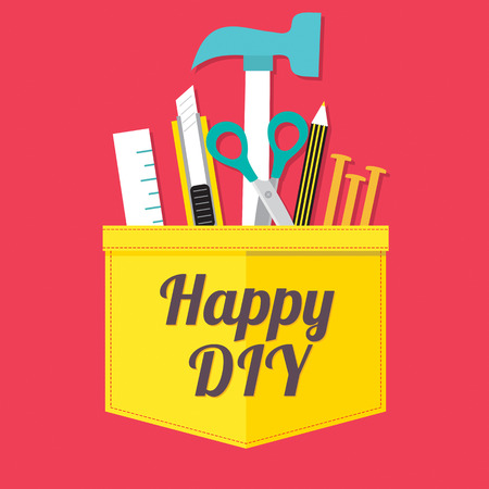 Happy DIY Vector Illustration Vector
