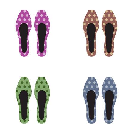 shoes vector: Set of Women Shoes Vector Illustration