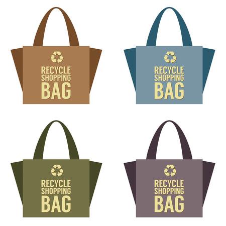 reusable: Recycle Bag Vector Illustration Illustration