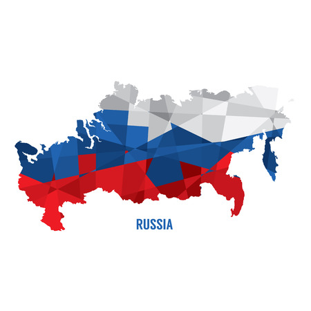 russia map: Map of Russia Vector Illustration