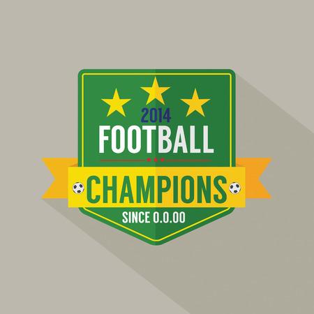soccer: Soccer or Football Champions Badge Illustration