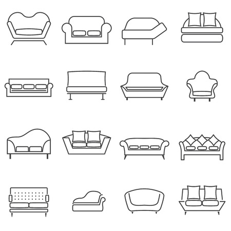 sofa set: Sofa Icons