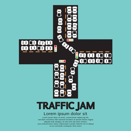 the traffic jam: Traffic Jam Vector Illustration