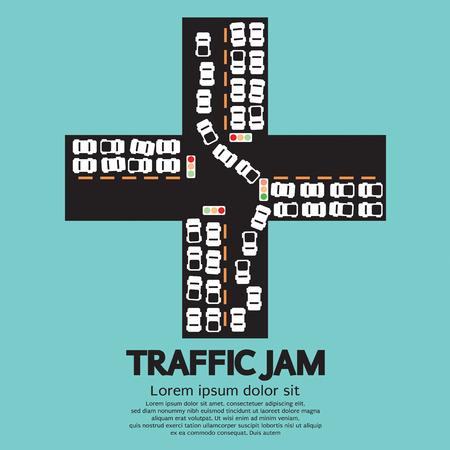 traffic jam: Traffic Jam Vector Illustration