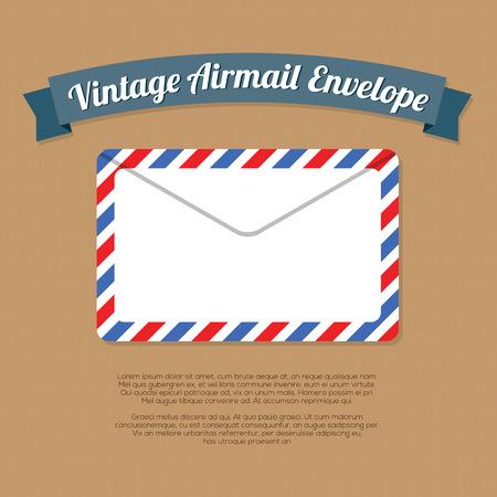 old envelope: Vintage Mail Envelope Vector Illustration Illustration