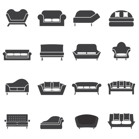 sofa: Sofa Icons Illustration