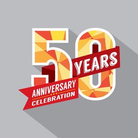 anniversary card: 50th Year Anniversary Celebration Design