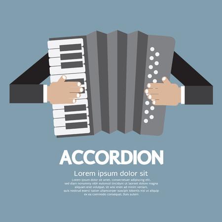 acordeón: Ilustración Vintage Instrumentos Musicales Acordeón Vector Vectores