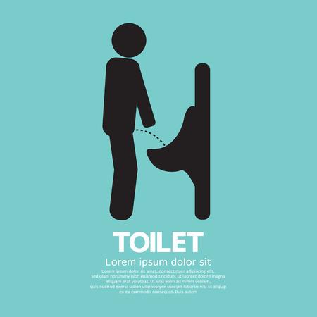 pee: Men Toilet Sign Vector Illustration Illustration
