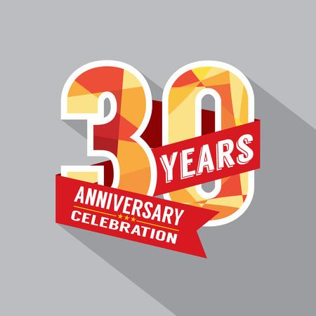 anniversaire: 30 Year Anniversary Celebration design Illustration