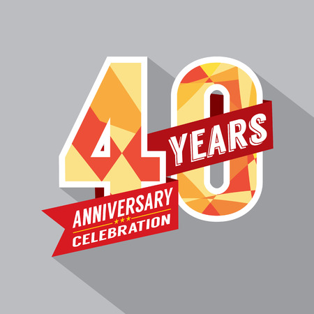 anniversary backgrounds: 40th Year Anniversary Celebration Design Illustration