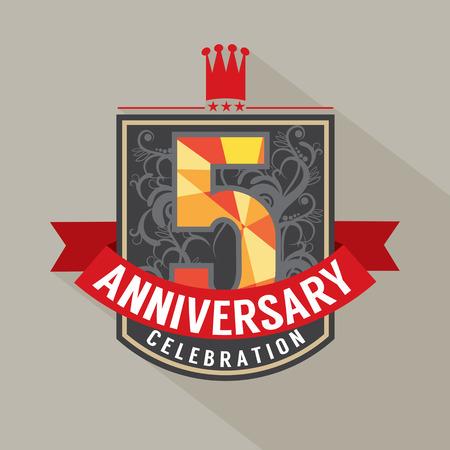 5th: 5 Years Anniversary Badge Design