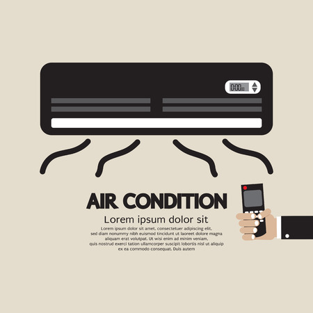 hands in the air: Air Condition Graphic Vector Illustration