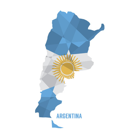 argentine: Map of Argentina Vector Illustration