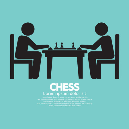 chess board: Chess Player Sign Vector Illustration Illustration