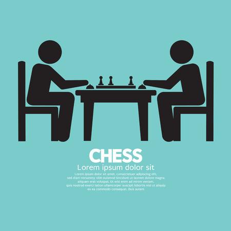 jugando ajedrez: Ilustración del jugador de ajedrez Entrar Vector