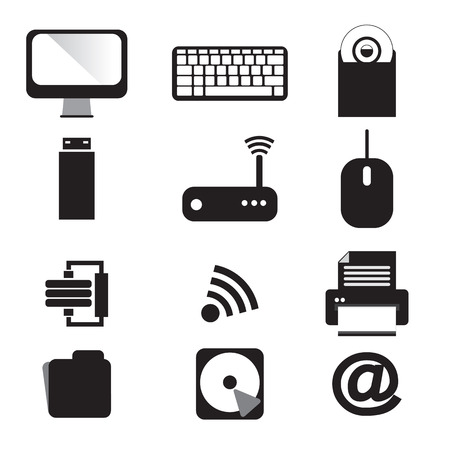 Computer and Devices Vector Icons Set Stock Vector - 29025610