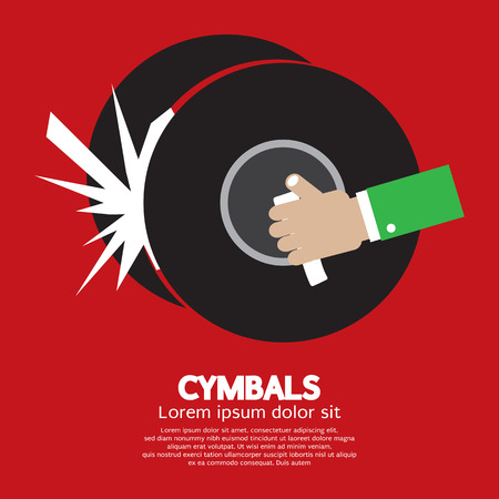 cymbals: Cymbals Music Instrument Vector Illustration