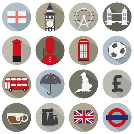stonehenge: Set of England Symbol Icons