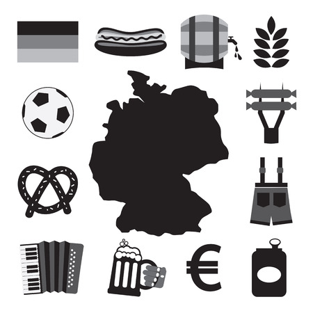Germany Icons Set Vector Illustration Vector