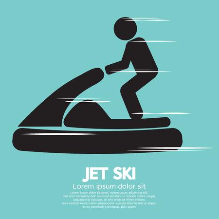 Jet Ski Sport Sign Vector Illustration Vector