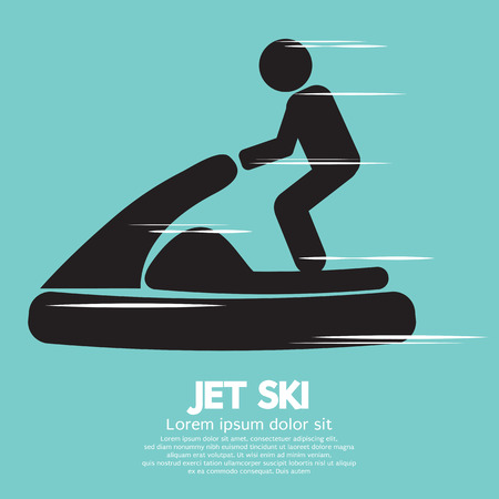 Jet Ski Sport Sign Vector Illustration Illustration