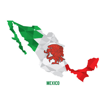 mexico map: Map of Mexico Vector Illustration