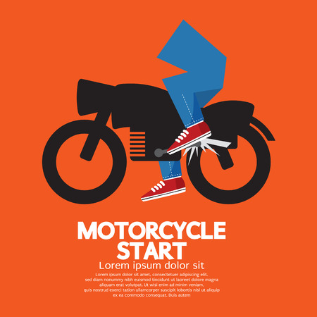 Starting Motorcycle Graphic Vector Illustration Stock Vector - 29025676