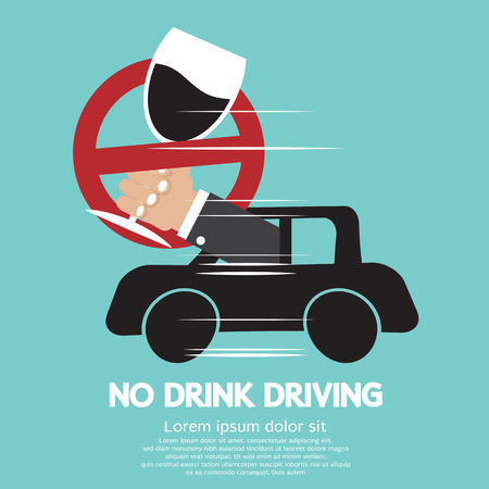 No Drink Driving Vector Illustration