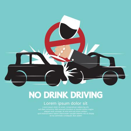 Nee Drinkt Driving Vector Illustratie
