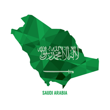 arabia: Map of Saudi Arabia Vector Illustration