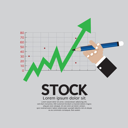 going up: Stock Shares Rise Vector Illustration