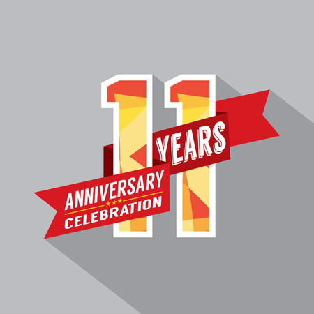 eleventh birthday: 11th Years Anniversary Celebration Design