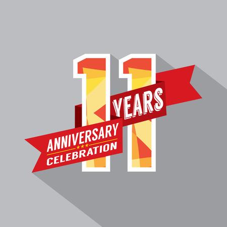 eleventh birthday: 11th Years Anniversary Celebration Design