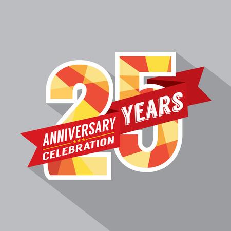 25th: 25th Years Anniversary Celebration Design