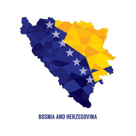 herzegovina: Map of Bosnia Herzegovina  Illustration