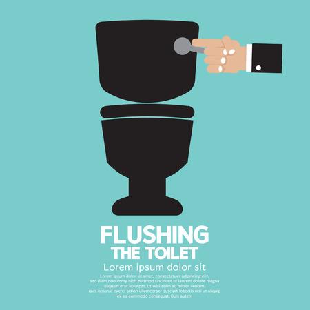 Flushing The Toilet  Vector