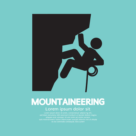 mountaineering: Mountaineering Graphic Symbol
