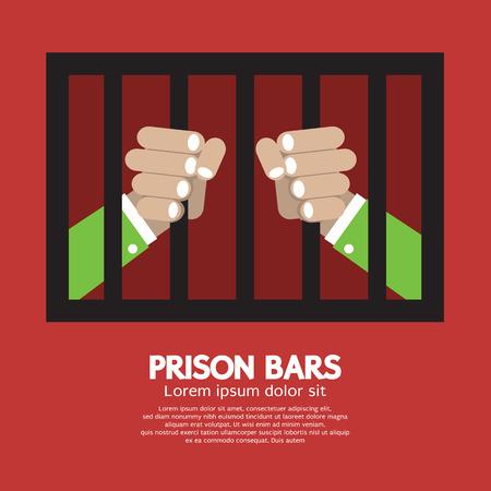 confine: Prison Bars Graphic  Illustration