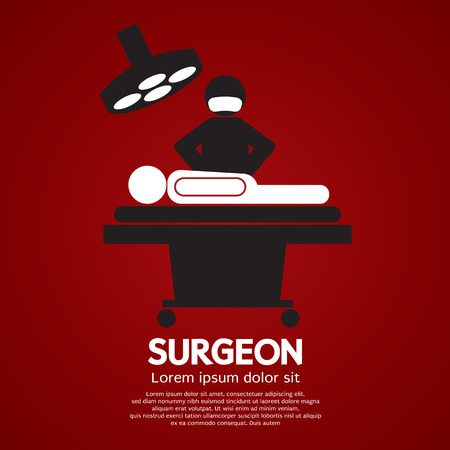 surgery concept: Surgeon Operate On Patient Sign