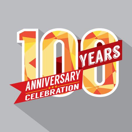 first birthday: 100th Years Anniversary Celebration Design